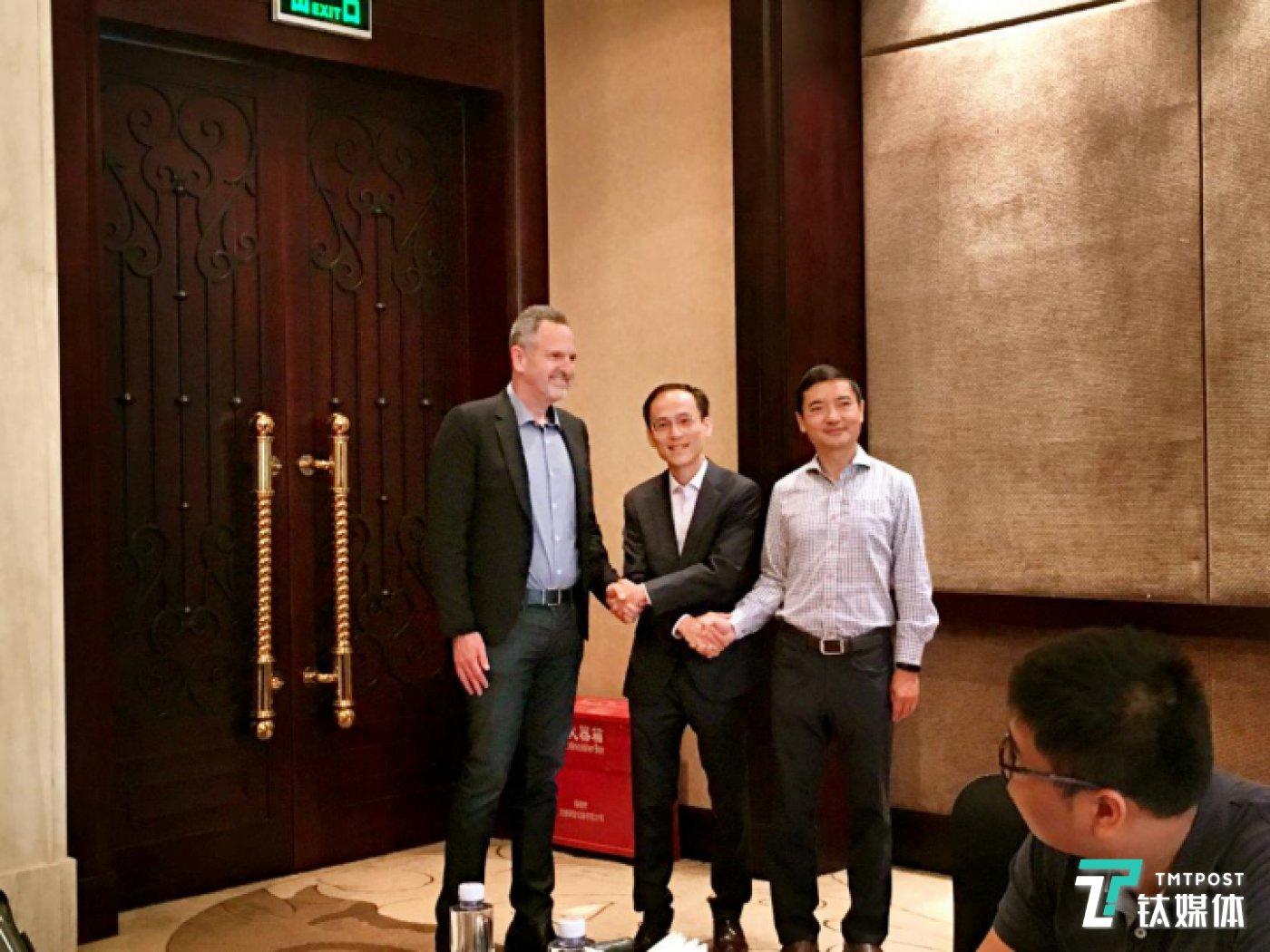 Arm IP事业部总裁Rene Haas,海思CIO刁焱秋,安谋中国CEO吴雄昂