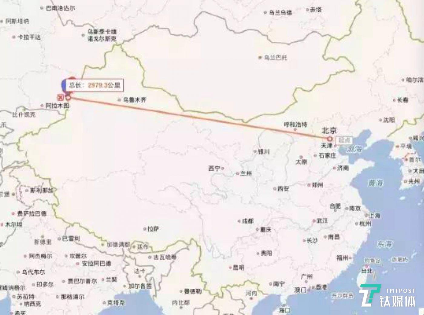"""霍尔果斯位于整个中国地图的""""鸡尾""""部,是通往中亚的重要通道。"""