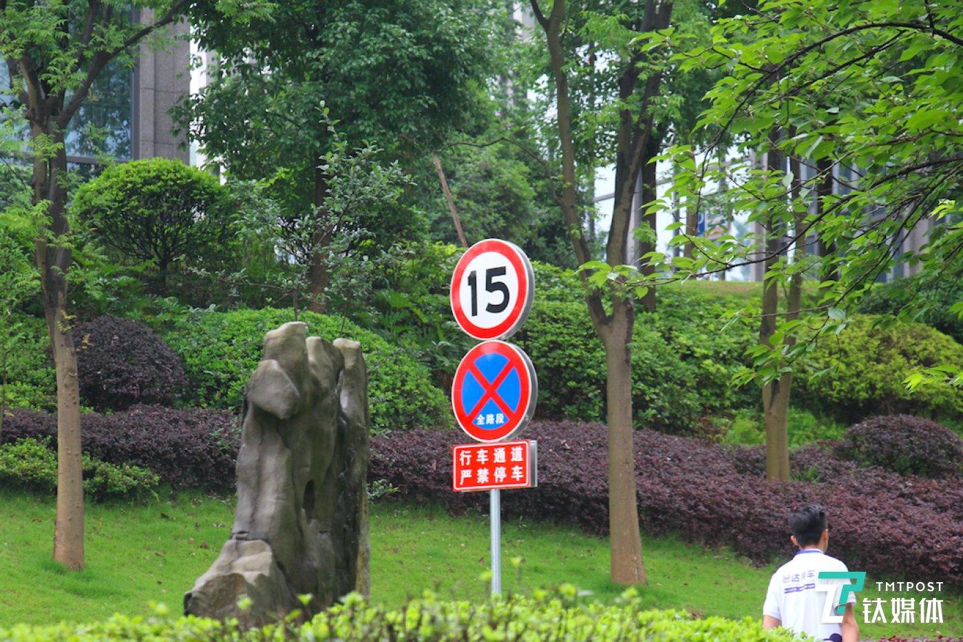 园区内的限速标志