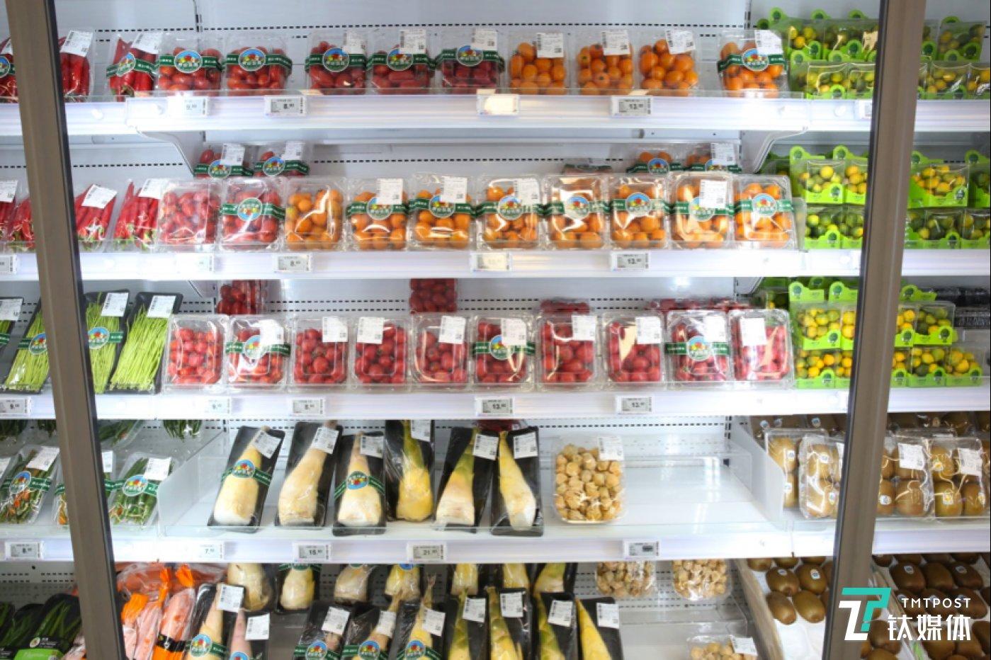 散称商品大部分被标准包装的货品替代