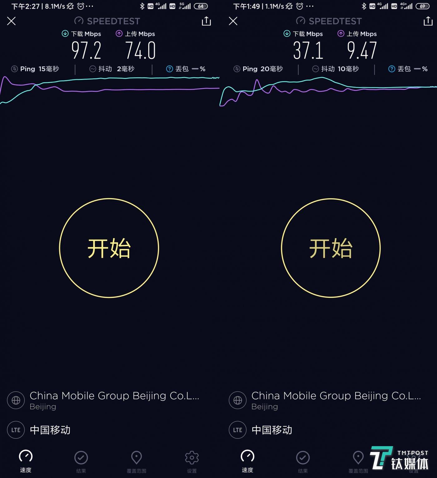 密集办公地区网速对比