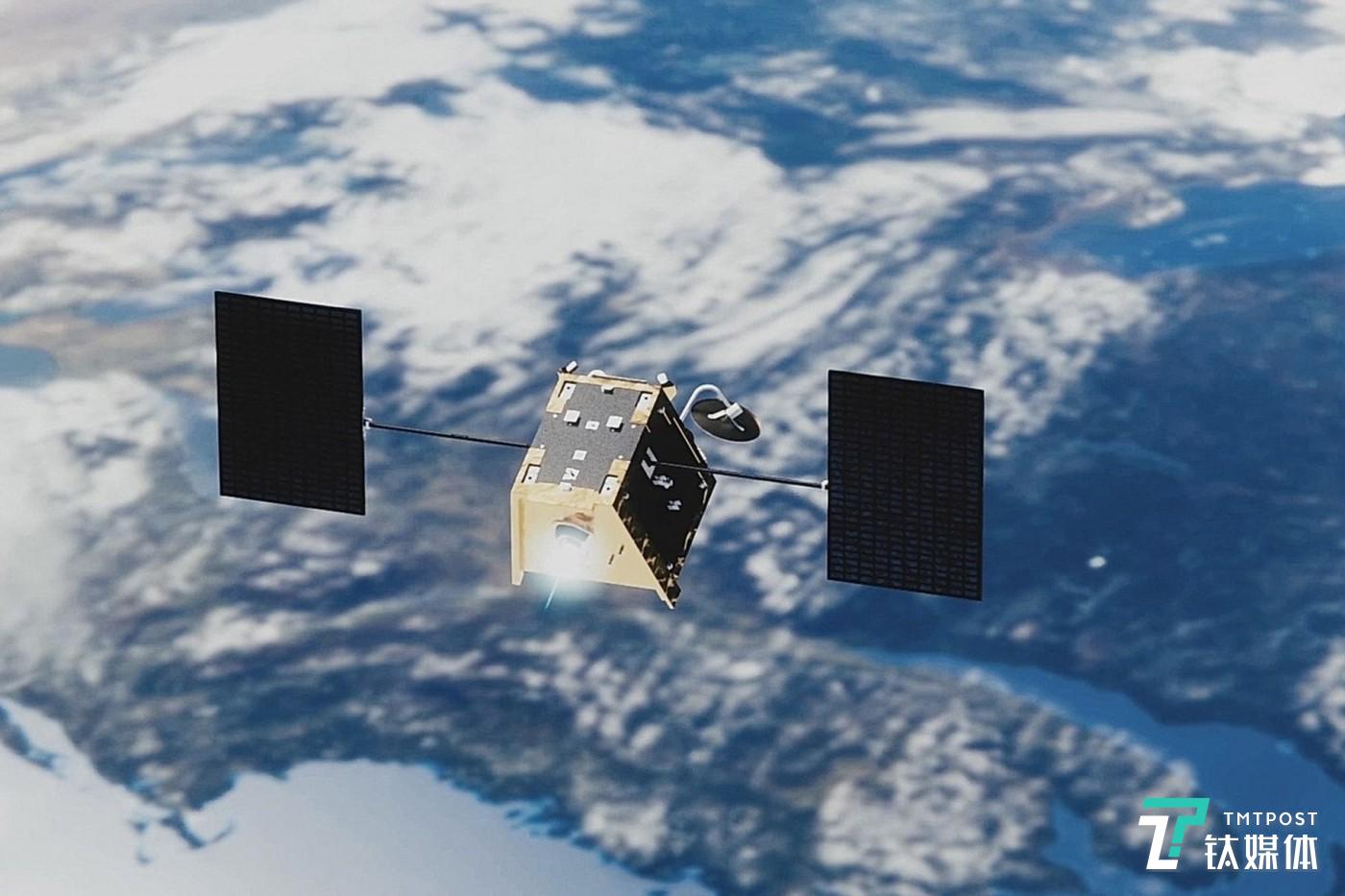 one of OneWeb's satellites might look like in space