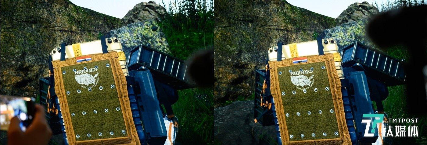 4K画面(左)对比8K画面