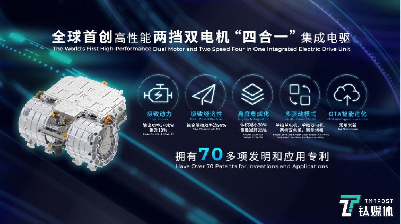 """广汽新能源发布全球首创高性能两挡双电机""""四合一""""集成电驱"""