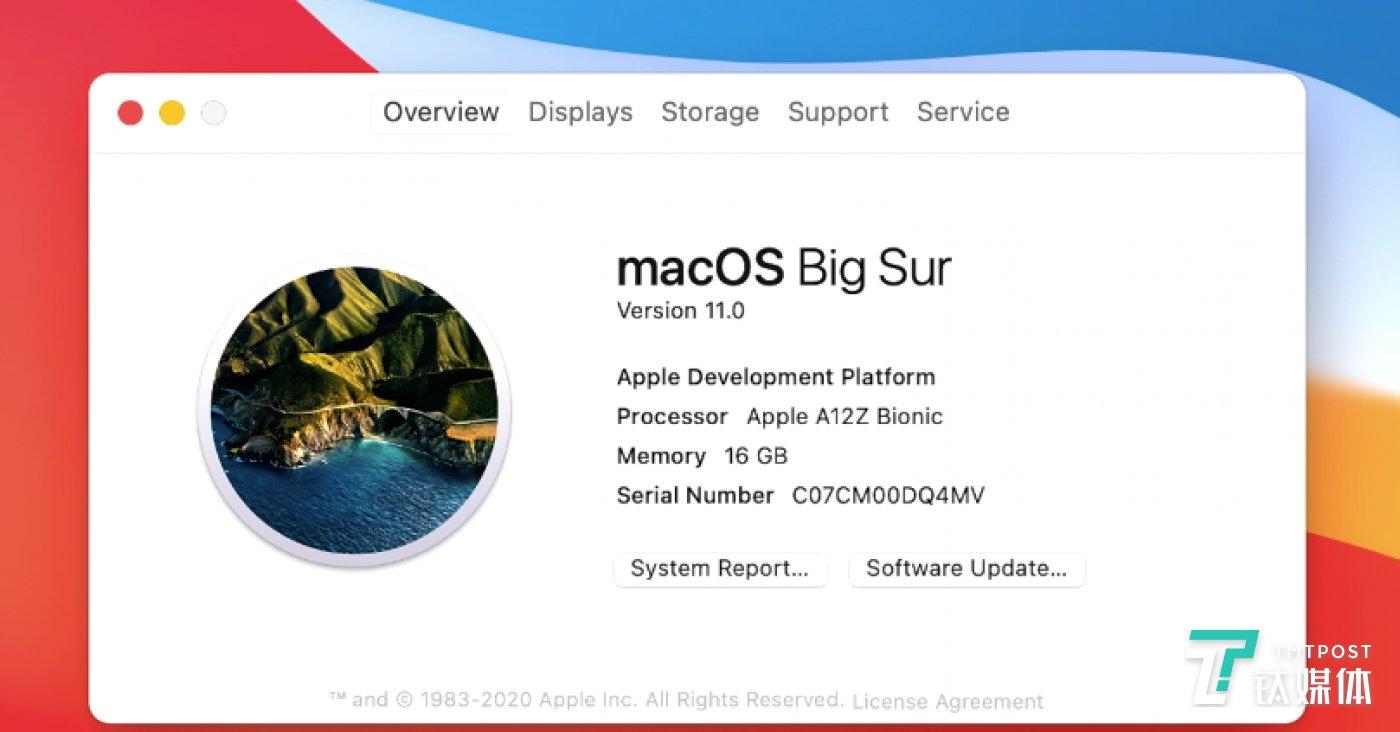 展示用的Mac也是采用的A12Z处理器