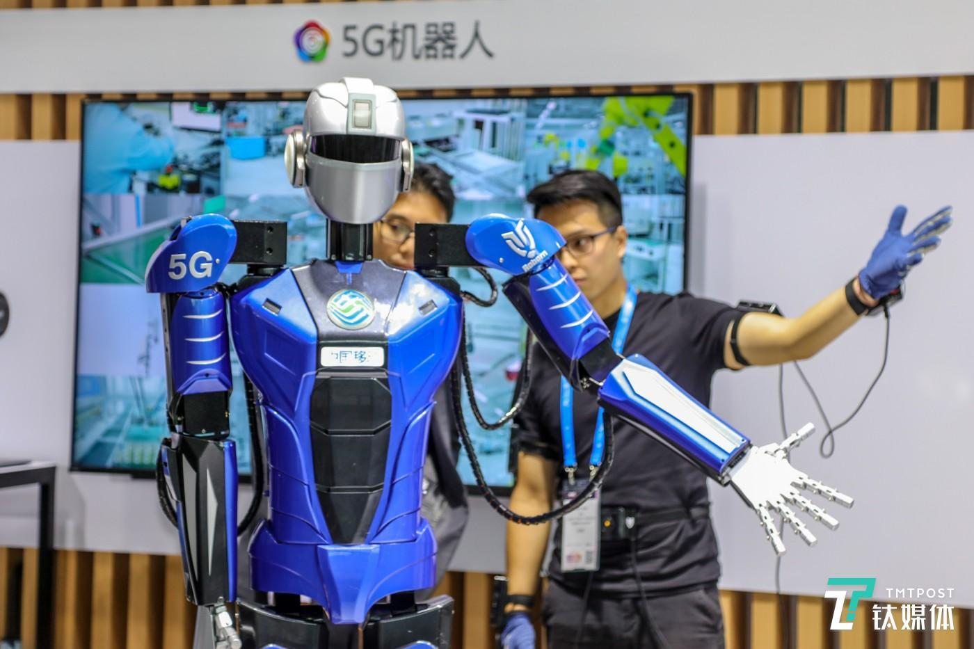 利用5G通讯技术完成远程机器人操控