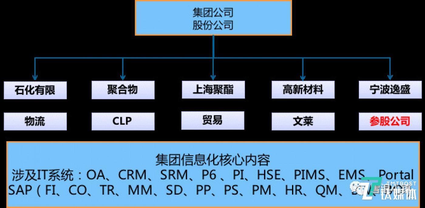 如图所示,从种类来看,集团信息化核心内容繁多,从公司结构来看,集团下属股份有限公司业务各不相同。