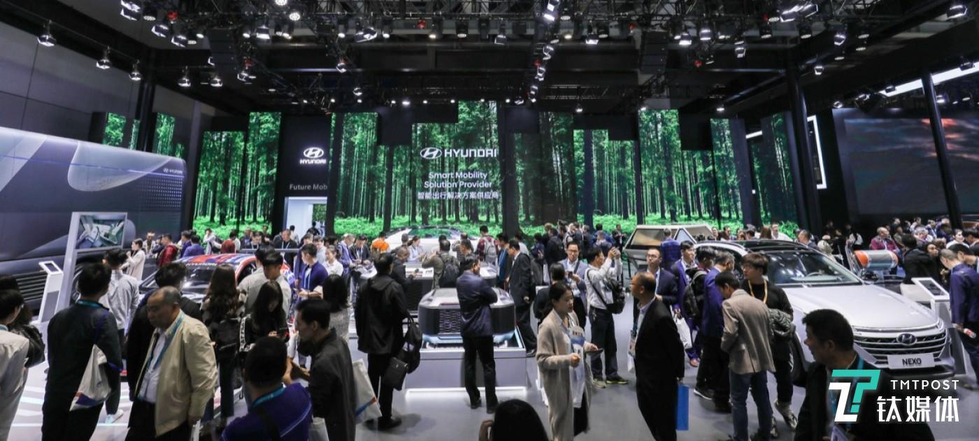 2019年进博会现代汽车展台